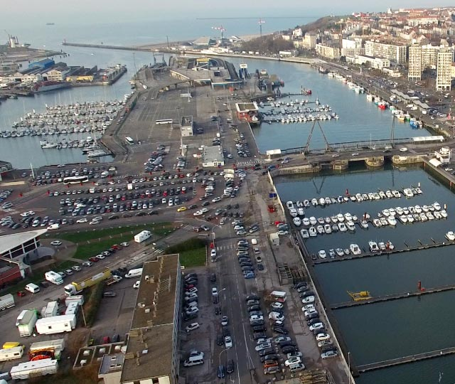 Boulogne sur Mer, France<br>harbour maintenance.