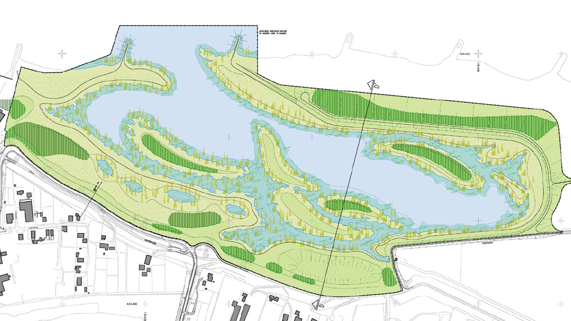 Zandwinning voorhaven en nieuw recreatiegebied Geertjesgolf.