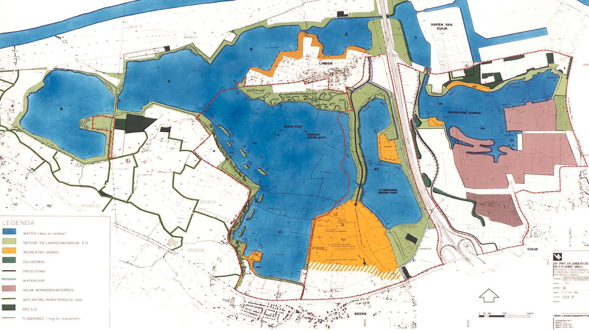 Kraaijenbergse Plassen, <br />area and nature development.