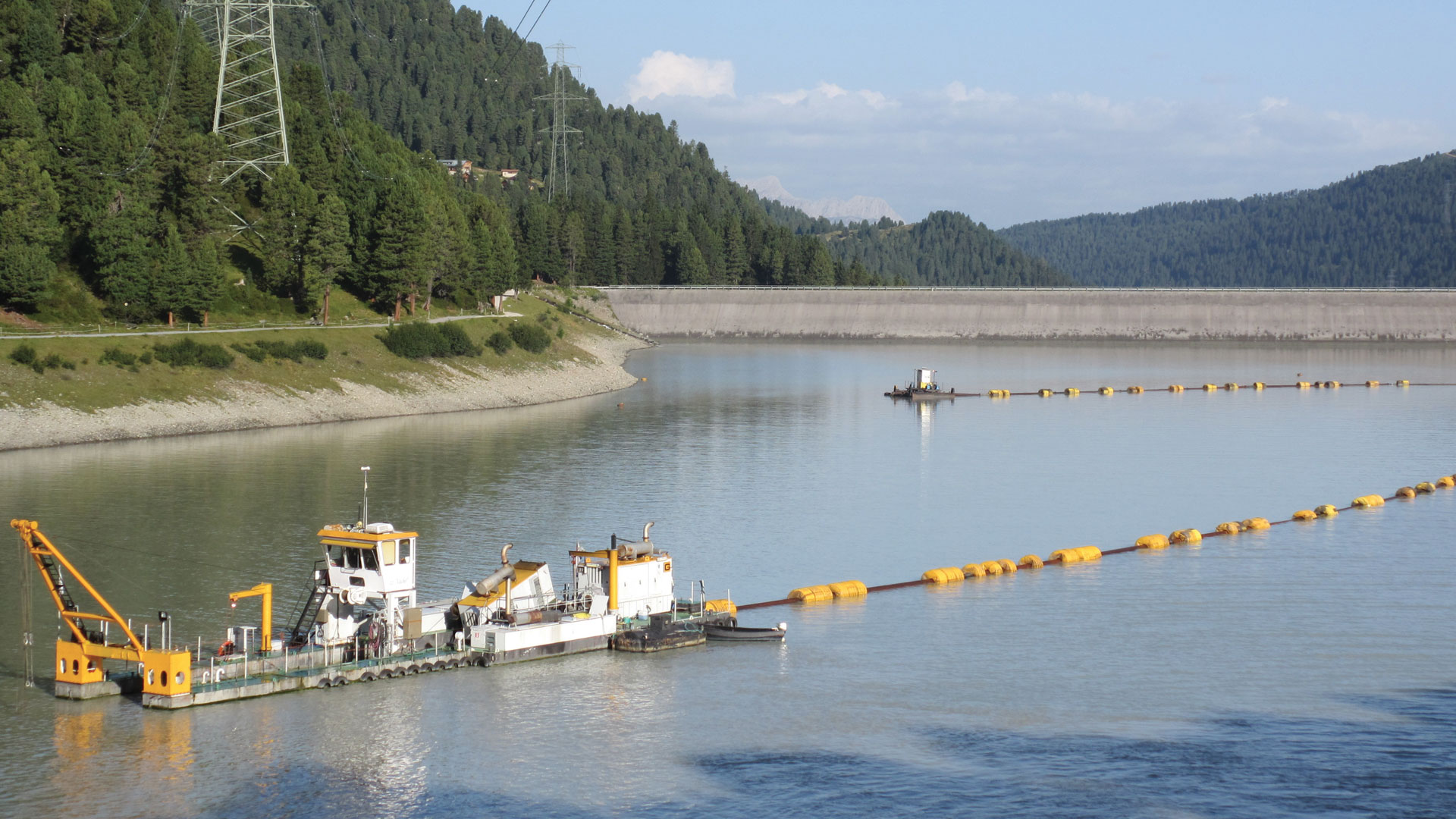 Extremely complex  transport and dredging in mountainous regions.