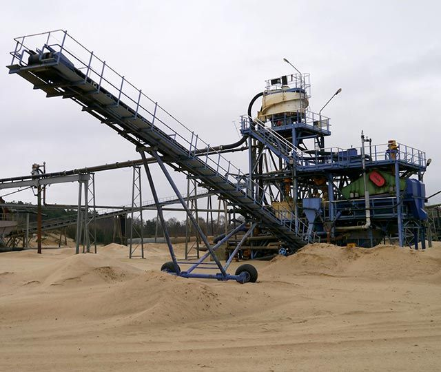 Sand processing installation for sale.