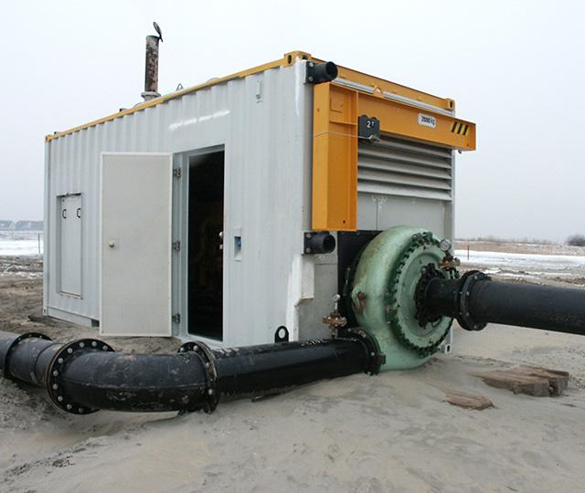 Boosterstations en generatoren.