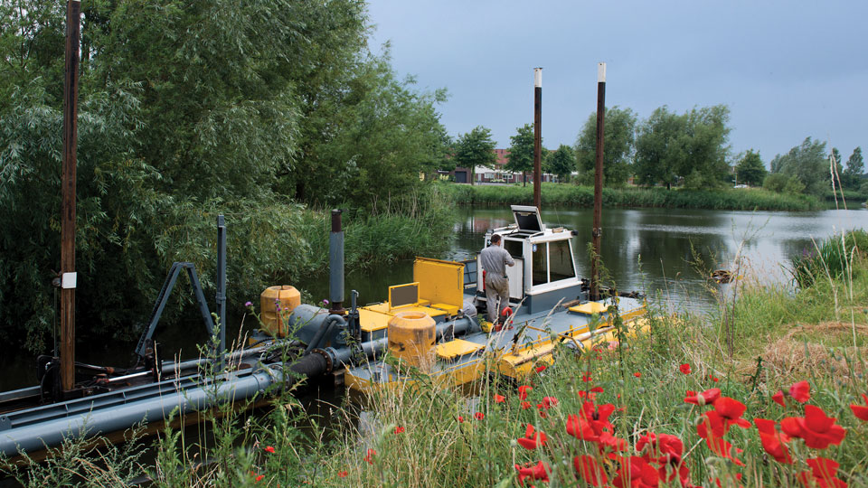 Hydraulic small scale dredging.